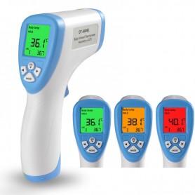 Termómetro infrarrojo digital corporal frente sin contacto uso médico